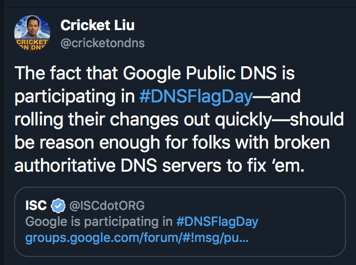 Cricket Liu on Google DNS