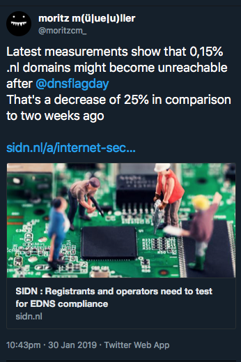 Update from SIDN (.NL)